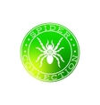 Spider collection white label design vector image