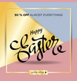 easter egg sale banner background template 24 vector image