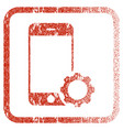 smartphone setup gear framed textured icon vector image
