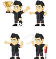 Spiky Rocker Boy Customizable Mascot 17 vector image