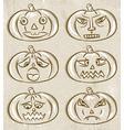 Halloween Pumpkins Horror Persons vector image