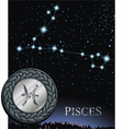 Pisces zodiac sign Fish zodiac poster vector image vector image