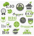 Natural organic product labels vector image