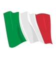 political waving flag of italy vector image vector image