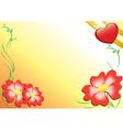 romantic card with flowers vector image vector image