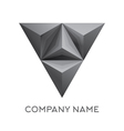Abstract company logo with 3d triangle vector image