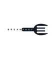 food service spoon fork logo vector image
