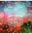 Christmas design Bokeh background with garland and vector image