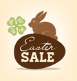Easter Sale Background with Rabbit vector image