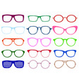 glasses colorful set summer vector image