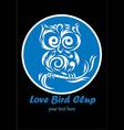 Love bird club bird logo design vector image
