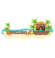 papakolea beach hawaii travel palm drink vector image