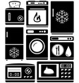set home appliance for kitchen vector image