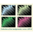 Collection of the backgrounds vector image