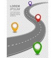 Road way navigation infographic Highway Template vector image