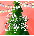 Christmas tree decorated with multicolored garland vector image