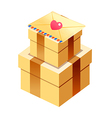 gift boxed and card vector image vector image