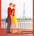 dating in paris background vector image
