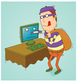 Stealing information on computer vector image vector image