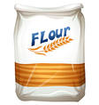A packet of flour vector image