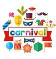 Celebration festive background with carnival flat vector image