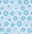 White honeycomb pattern design vector image
