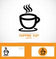 Coffe cup orange logo vector image