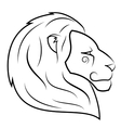 Lion head 2 vector image