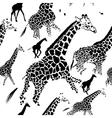 seamless pattern background giraffe skins vector image