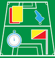 Soccer Referee Icons on Playground vector image