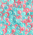 abstract color spirals seamless pattern with vector image