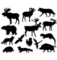 Animals of Europe vector image