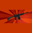 arm assault rifle military war forces revolution vector image