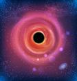 Beautiful Glowing Galaxy Black Hole vector image