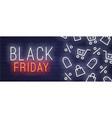 black friday neon sign web banner logo emblem vector image