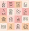 city architecture set vector image