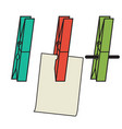 clothes clips vector image
