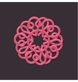 Hearts pattern outline style vector image