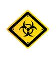 Metal biohazard warning sign icon vector image