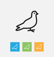 of zoology symbol on dove vector image