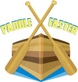 Paddle Faster vector image