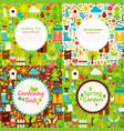 flat garden spring postcards vector image