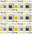 Seamless Pattern with Keys and Padlockes vector image