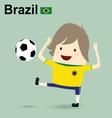 brazil national football team businessman happy is vector image