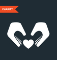 Charity and guardianship concept - hands vector image vector image