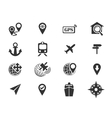 Navigation and transport icons set vector image