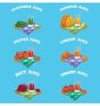 Vegetables Emblem Set vector image