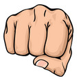 a fist punching towards you vector image