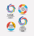 collection of colorful abstract circular symbols vector image