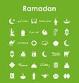 set of ramadan simple icons vector image